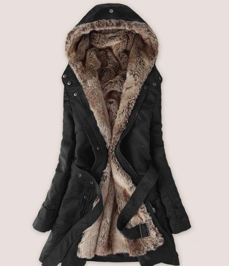 Пролет и зима разстроен дамски вълнен - Дамски дрехи - Снимка 3