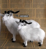 a pair of simulation goat toys lifelike handicraft sheep models gift
