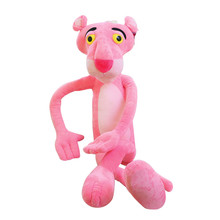 40 CM Cute Pink Naughty Leopard Pink Panther Plush Stuffed Toys Baby Kids Doll Brinquedos Factory Price
