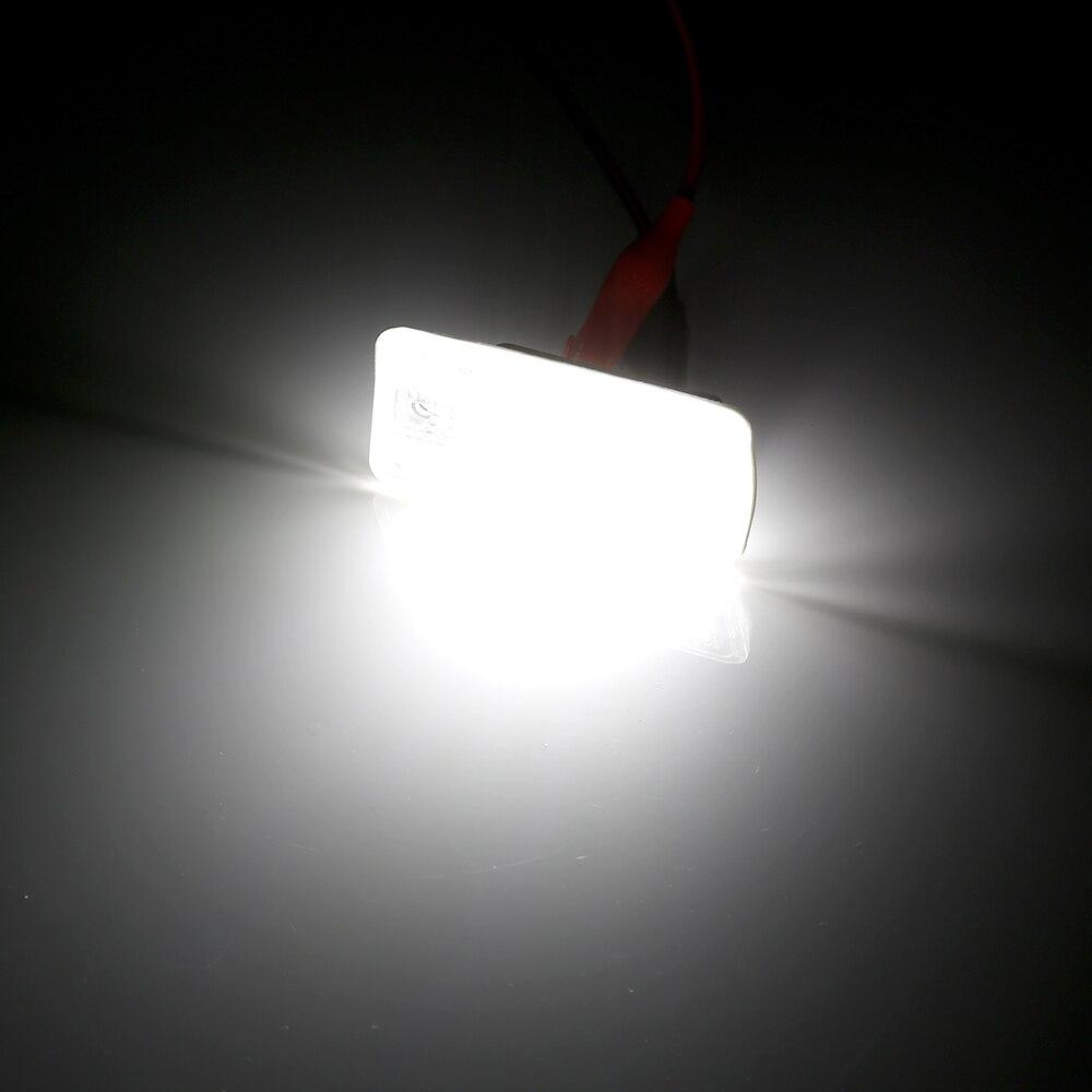 Image 5 - 2 шт 12V светодиодный номерной знак светильник лампы для Audi A4 A5 A6 C6 A3 S3 S4 S5 B6 B7 S6 A8 S8 Rs4 Q7 автомобиля Подсветка регистрационного номера-in Номерной знак from Автомобили и мотоциклы