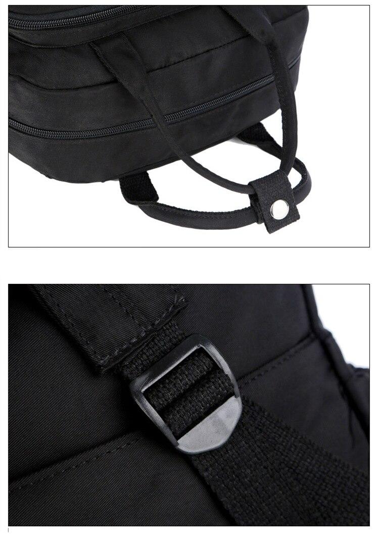 HTB1DED.afjsK1Rjy1Xaq6zispXa7 2019 Fashion Woman Backpack Waterproof Nylon Soft Handle Solid Multi-pocket Travel Zipper Mochila Feminina Sac A Dos School Bags