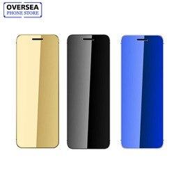 Ulcool V36 Ultrathin Credit Card Cellphone Metal Body Bluetooth 2.0 Dialer Anti-lost FM Mp3 Dual SIM Card Mini Mobile Phone
