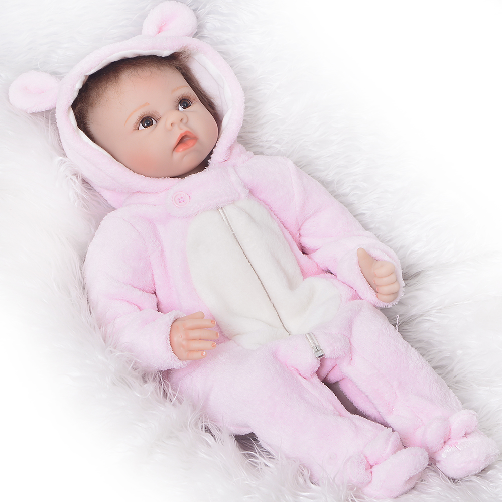 Simulation 55 cm New Born Babies Doll Lifelike Silicone Vinyl Reborn Baby Dolls For Sale 22 Realista Reborn Menina Xmas Gifts