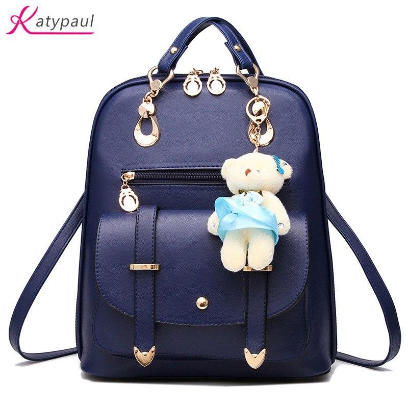 Women Backpack For Girls School Bag Bagpack 2017 New High Quality Casual Women Leather Backpacks Female