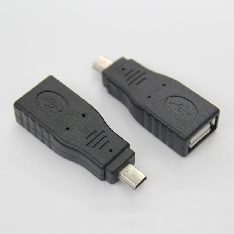 USB 2.0 A Female Jack to Mini USB B 5 Pin Male Plug OTG Adapter Connector F/M