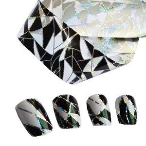 Image 3 - Adornos de decoración para uñas transferencia pegamento láminas pegatina adhesivo de uña pegamento calcomanías Glitter manicura herramientas LAXK11, 100cm x 4cm