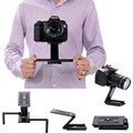 2 in1 Camera Fold Z Tripod Pan Tilt Ball Head Desktop Stand Holder & Handheld Video Stabilizer Steadicam for DSLR