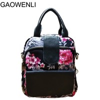 GAOWENLI Brand 10 Colors Print High Quality Multi Functional Bags Handbags Women Famous Brands Sac A