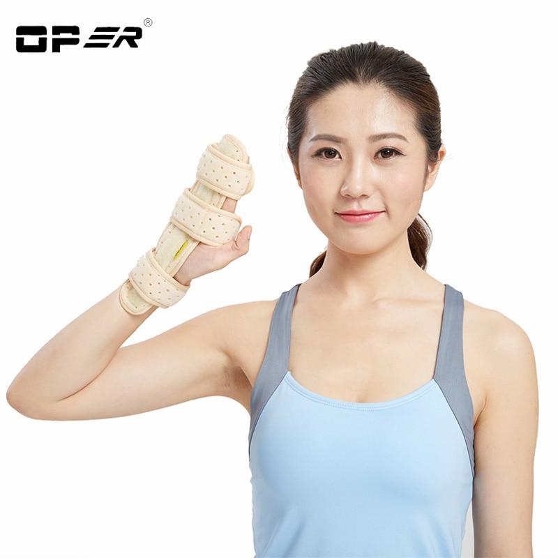 Óper dedo Phalanx metacarpiano dislocación Fixed Splint muñeca espray lesiones Palma fractura fijación ayuda transpirable terciopelo