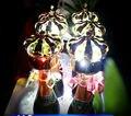 Livre O Navio Colorido LED Flash de luz Champanhe Coroa de fogos de Artifício Frios Substituição Luminosa Coroa Cabeça CONDUZIU a Lâmpada de Mesa Vinho Rolha
