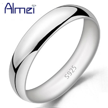 6d0a2bd28e92 Almei hombres anillo Color plata joyería para las mujeres Anillos de moda  Mujer hombre boda Anel 2017 Bague Femme Anillos Mujer j017