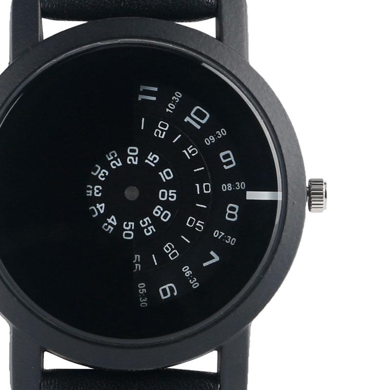 Mode mænd armbåndsur rustfrit stål quartz ur sort trendy afslappet - Mænds ure - Foto 2