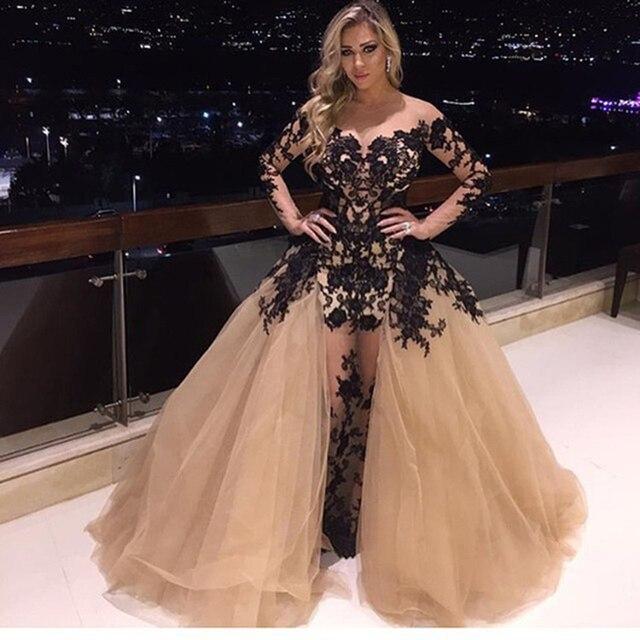 HUIFANY New Champagne Spitze Haute Couture Kleider Sexy V ausschnitt ...