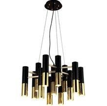 Modern Pendant Light For Living Room black LED Pendant Lamp Lipstick type light For Coffee House Bedroom Suspension luminaire