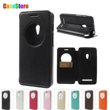 Для ASUS Zenfone 5 Case Рев Корея Дневник Cricle Smart View окно Кожаный чехол для Asus Zenfone 5 A501CG A500KL С Пакетом