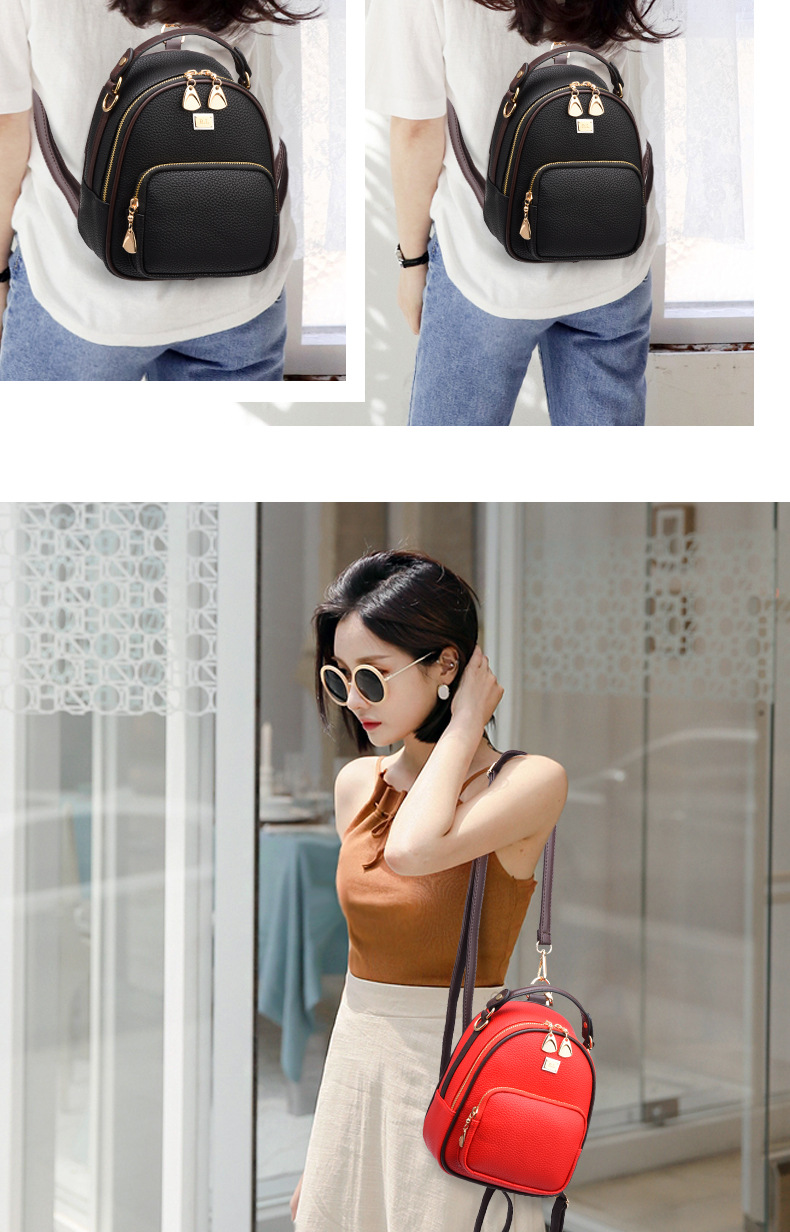 HTB1DEENtv1TBuNjy0Fjq6yjyXXaP Brand New Leather Small Women Backpacks Zipper Shoulder Bag Female Phone Bags Lady Portable Backpack for Girls Casual Style
