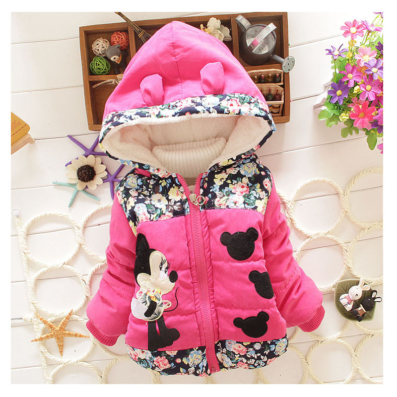 Girls winter clothes 2016 new autumn and winter clothing cotton jacket 1 3 year old lovely