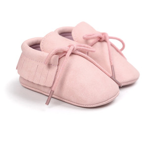 baby pink colors girls moccasi