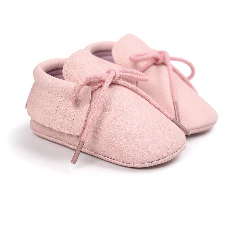 kūdikių rožinės spalvos mergaičių mokasinai kūdikio naujagimio batai su princesės stiliaus kūdikių bateliais 0 ~ 18 mėnesių CX45C