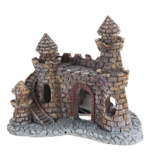 Safety Aquarium Decor Resin Castle