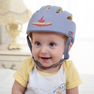 Image 4 - Bebê capacete de proteção de segurança capacete para bebês menina algodão infantil proteção chapéus crianças boné para meninos meninas infantil