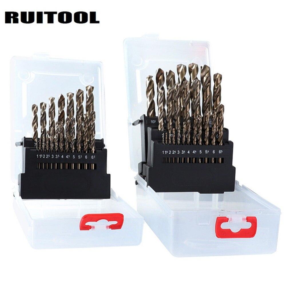 19pcs 25pcs 1-13mm High Speed Steel HSS Drill Bits Set for Metal Wood Plastic
