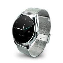 Z02 Dünne Smartwatch Metall Streifen Runden Bildschirm Herzfrequenz-messgeräte Wasserdichte Bluetooth Telefon Synchronisation Für IOS Android