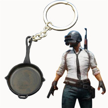 Game PUBG Frying Pan Playerunknown's Battlegrounds Cosplay Props Alloy Armor Model Key Chain Keychain стоимость