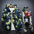 2016 autumn Winter new men's Camouflage color With hood jackets Male Long-sleeve zipper casual men's jacket men outerwear