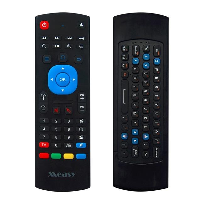 Gp811 measy 2.4g mini teclado sin hilos del ratón 3d de $ number ejes somatosensorial con el aprendizaje a distancia por infrarrojos para smart tv, iptv, pc, ht pc