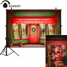 Allenjoy photo backdrops Christmas shop door celebrate window newborn photo studio photocall background original custom allenjoy photography backdrops paper plane children newborn background for photo studio