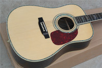 Free Shipping Best Price Classic Acoustic Dreadnought Guitar Natural Solid Spruce TOP Acoustic Guitar With Pickup