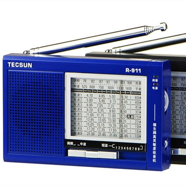 TECSUN R-911 AM/FM/SM (11 полосы) мульти Групп Радиоприемник Трансляция С Встроенный Динамик R911 tecsun радио бесплатная доставка