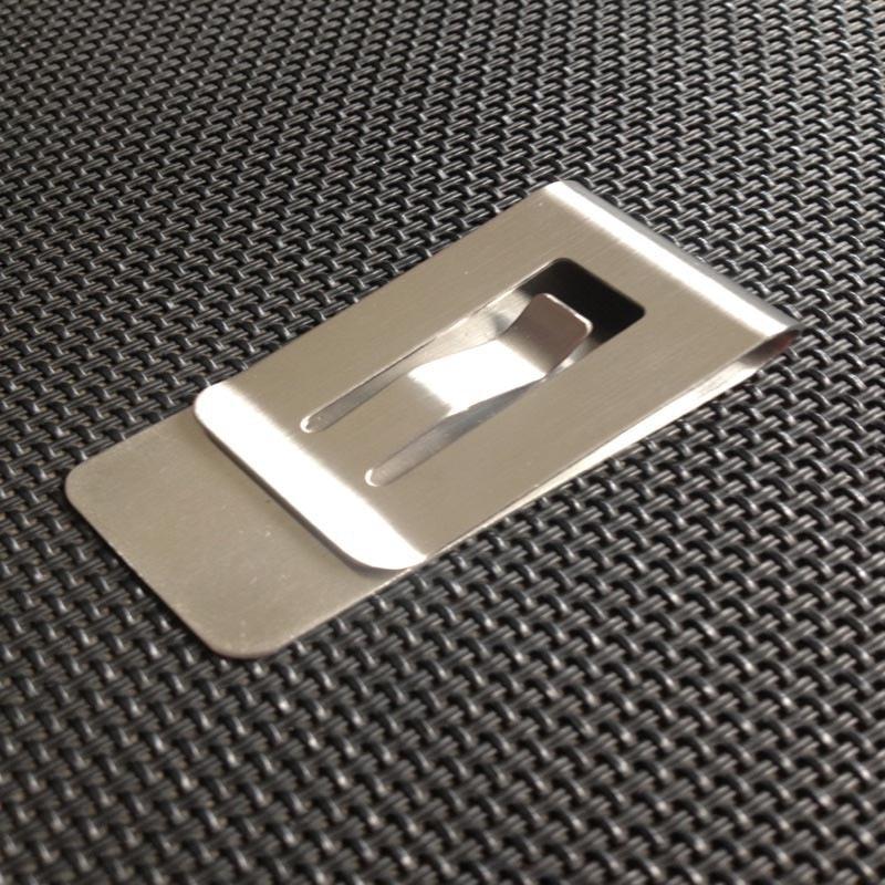 Simple Metal Money Clip Hollow Design Credit Card Business Card ...