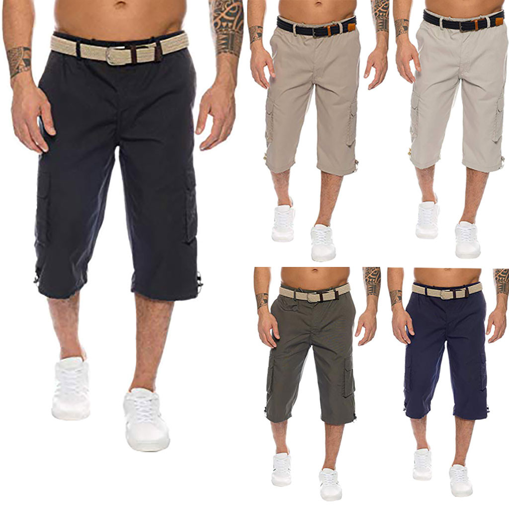 Joggers Pants Overalls Multi-Pocket Men's Cotton Fashion New Hip 25 New-Style