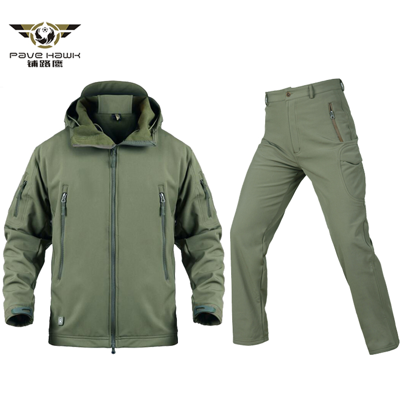 New Men Tactical Military Uniform Jacket And Pants Waterproof Army Combat Uniform Tactical Pants Men's Camouflage Hunt Clothes