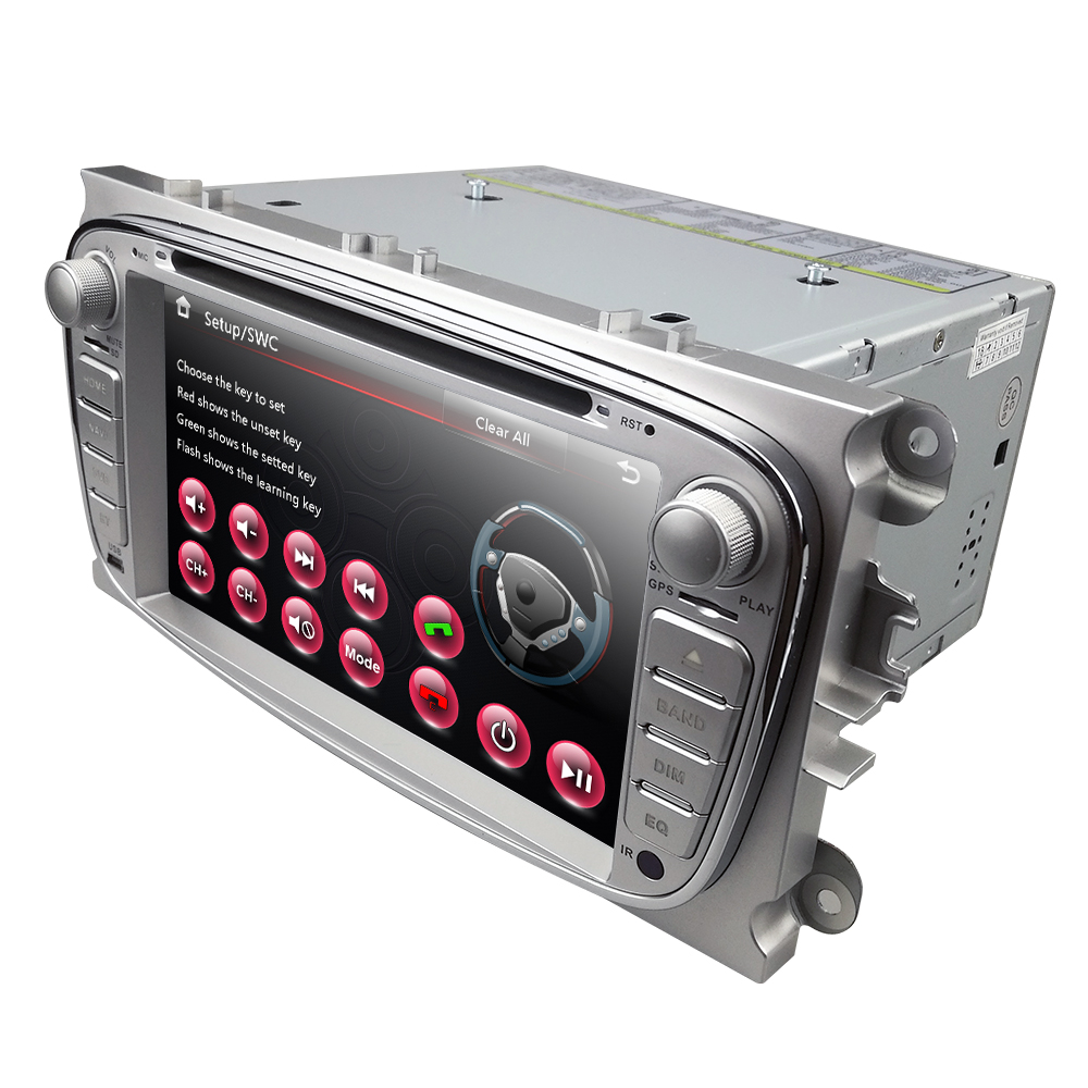7Inch <font><b>2Din</b></font> Car DVD Player For Ford Focus 2 S-Max C-Max Mondeo 4 Galaxy Kuga 2008-2010 RDS DAB+ OBD2 Mirror link Subwoofer Camera image