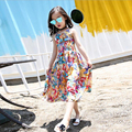 Girls Dresses Summer 2017 New Kids Party Floral Beach Dress For Girls Children Bohemian Fashion Clothes