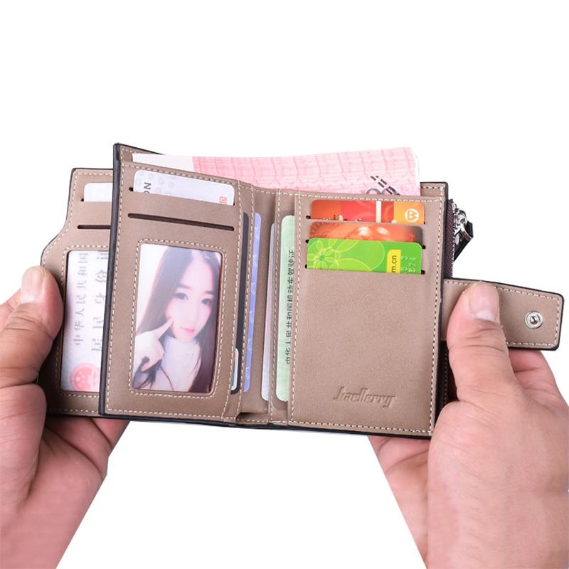 Baellerry, billetera de piel para hombre, monedero corto de piel para hombre, monedero de calidad garantizada
