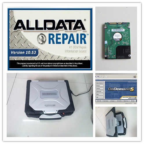 US $334 4 5% OFF|auto software alldata mitchell on demand all data 10 53  with hard disk 1tb installed version toughbook cf30 laptop windows7-in