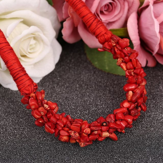 minhin brilliant red pedra natural pingente colar gargantilha