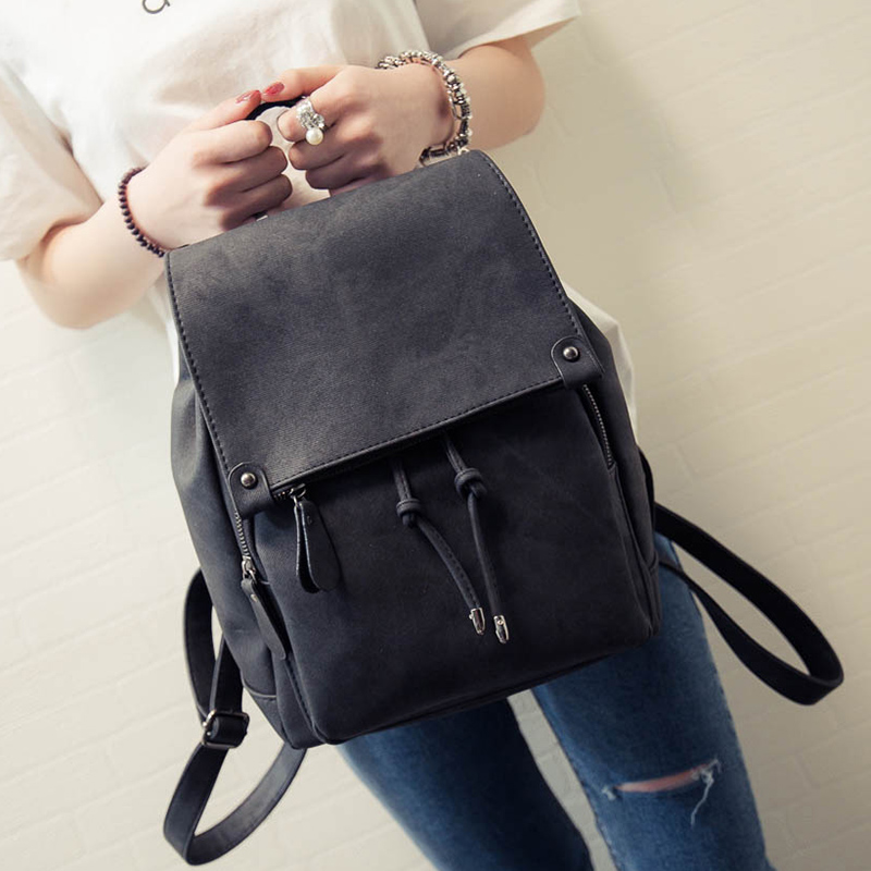 2018 New Arrival Summer Women Backpacks Canvas College Bags For Teenage Girls Ladies Travel Backpack Black