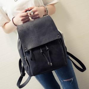 Image 1 - 2020 yeni varış yaz kadın sırt çantaları tuval okul çantaları genç kızlar için bayan seyahat sırt çantası siyah pembe okul çantaları