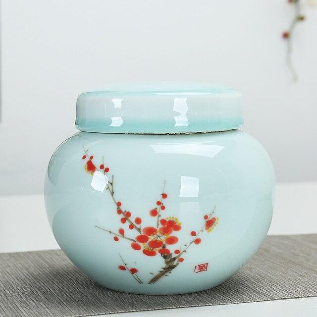 Klassische Teekanne Groben Keramik Kleine Tee Vorratsglas Teedose Behälter  Keramik Glas Tee Küche Kanister Set Mit