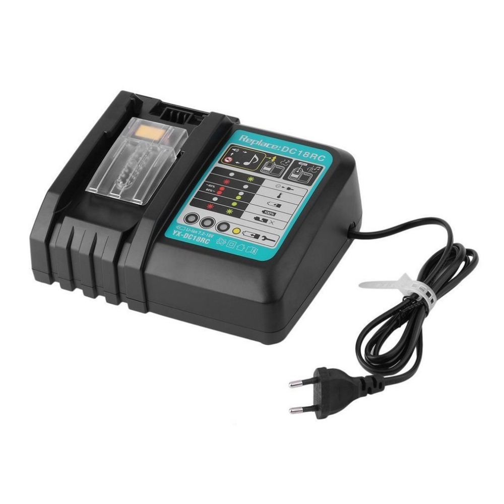 DC18RC 7.2V-18V Rapid Power Tools Battery Charger Tool Li-ion Charger for Makita Power Tool Battery DC18RA DC18RC DC7100 18v 6000mah rechargeable battery built in sony 18650 vtc6 li ion batteries replacement power tool battery for makita bl1860
