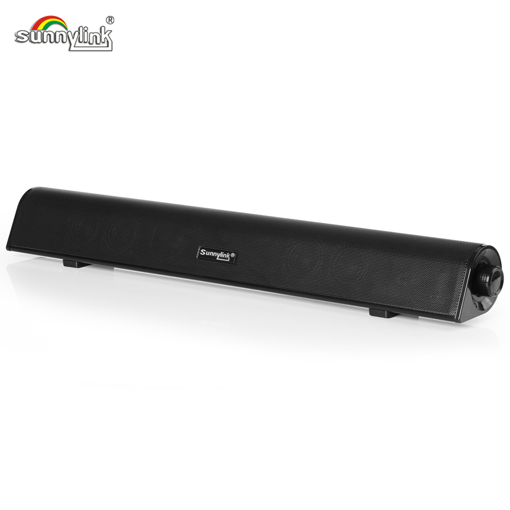 SUNNYLINK POWERFUL BASS BLUETOOTH SOUNDBAR BUILT-IN SUBWOOFER SOUND BAR MED BT + USB AUDIO + AUX INPUTS FOR DATAMASKINER / TV / LAPTOPS