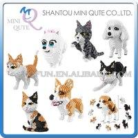 Mini Qute BALODY Huge Cartoon Kawaii Cute Animal Cat Dog Diamond Husky Building Blocks Brick Action