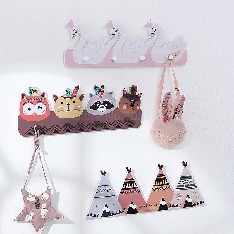 Modern minimalist creative door rack animal hook hanger wall hanging porch children room wall decoration