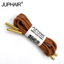 1-12 Pairs Yellow Brown High Quality Unise Laces Waxed Round Shoelaces Sneaker Solid Polyester Twisted Shoe Metal Head Shoelaces недорого