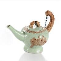 1Pcs Ceramic Tea pot Chinese Maitreya Buddha Porcelain Teapot Drinkware KungFu Tools Tea Pot Set 100ml~200ml Tea Ceremony Gift